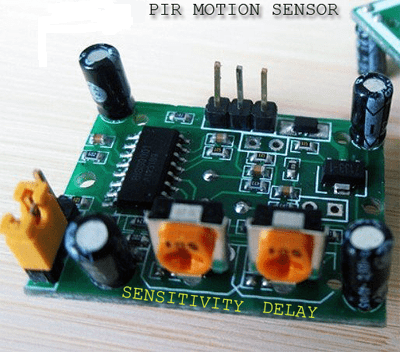 PIR Motion Sensor - Trim POT Location