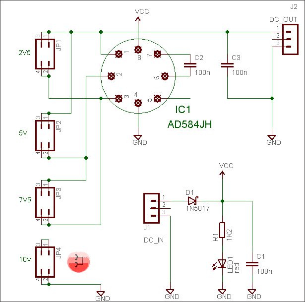 Simple DVM Voltage Reference - Schematic