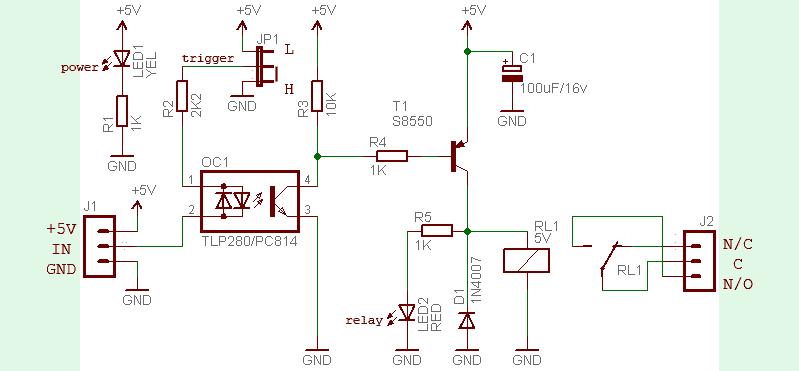 Universal Relay Module Circuit - Basic