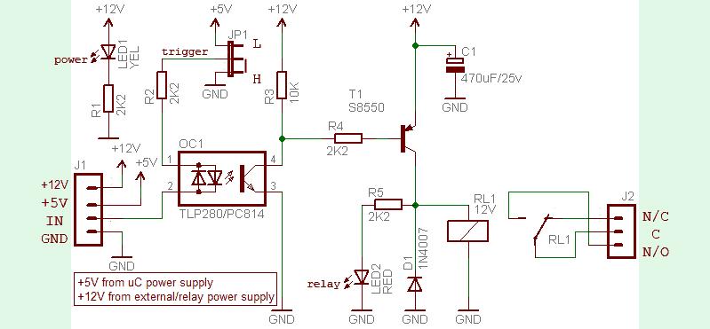 Universal Relay Module Circuit