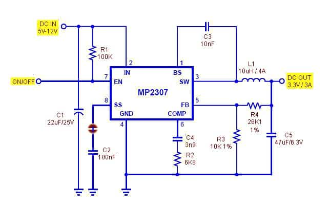 3V3 uC Power Supply -Schematic