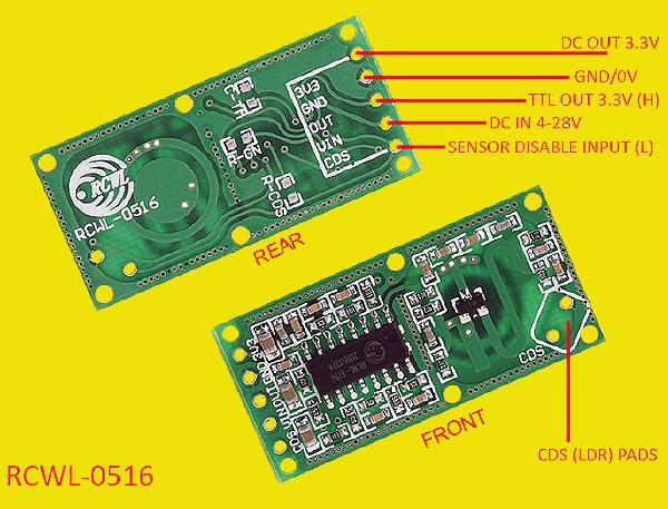 Microwave Radar Motion Sensor Switch Rcwl 0516