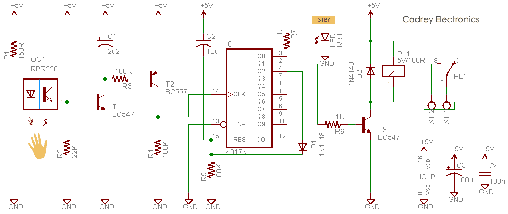 Safe Bathroom Lamp Controller Schematic