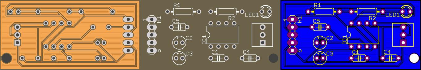 Tiny Tone Decoder ModuleLM567 PCB