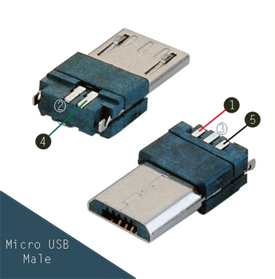 USB OTG Power Guard - micro USB male pin out