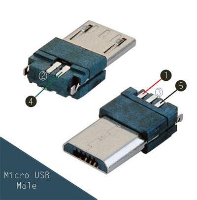 USB OTG Power Guard - micro USB male pin out