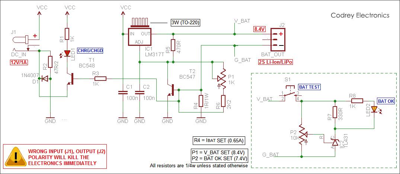 Universal Li-Ion & LiPo Charger - Circuit