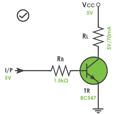BJT Switch and Microcontroller-Practical Circuit