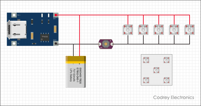 Simple Selfie Light - Connection Diagram