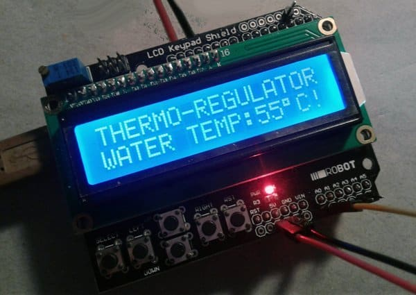 Simple Thermostat for Electric Geyser using Arduino