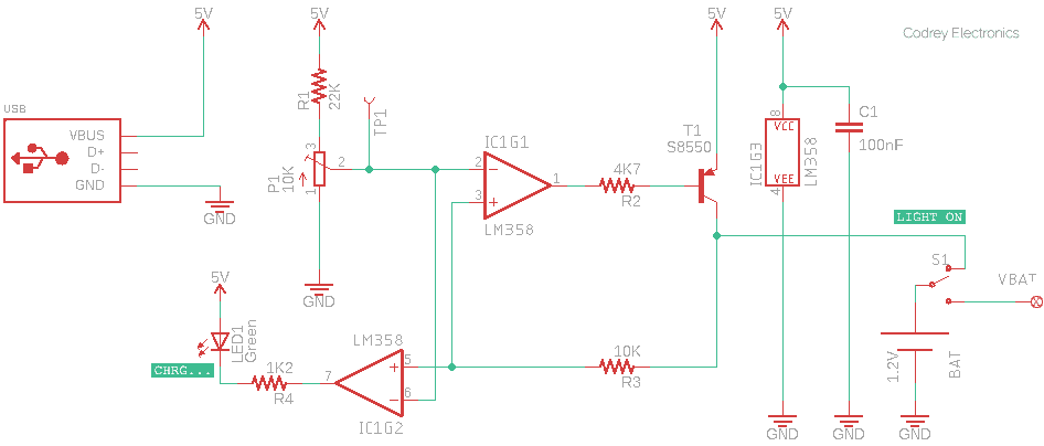USB Flashlight - Charger Circuit