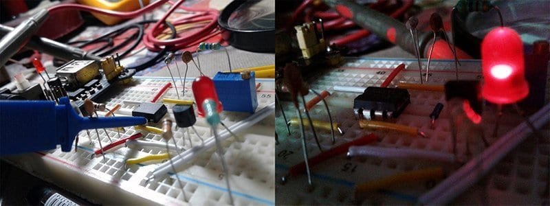 Light Intensity to Frequency Converter - Prototype test