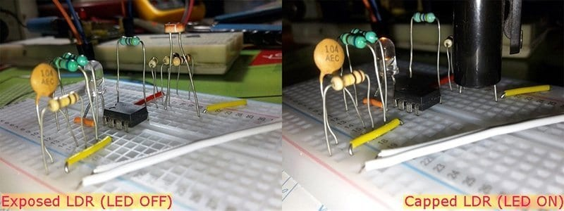 Little LED Night Maker-Breadboard Test