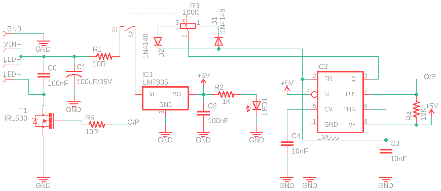 LED PWM Schematic