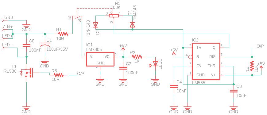 LED PWM Schematic