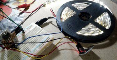 LED Strip Microcontroller-Experimental setup 1