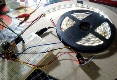 LED Strip Microcontroller-Experimental setup 1