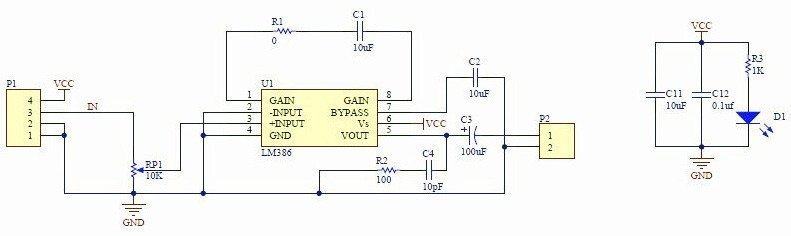 LM386 Module Circuit