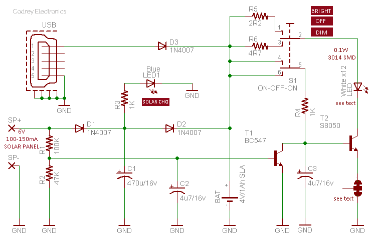 Solar Street Light Schematic