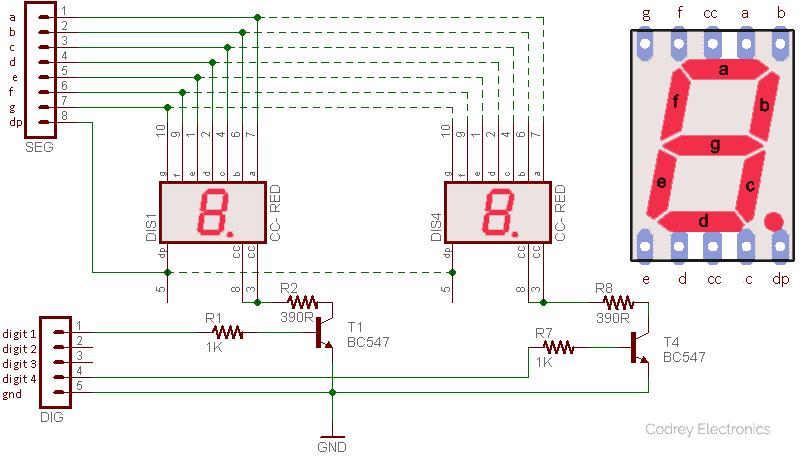 Arduino Analog Sensor Reader-4xSSD Driver Circuit