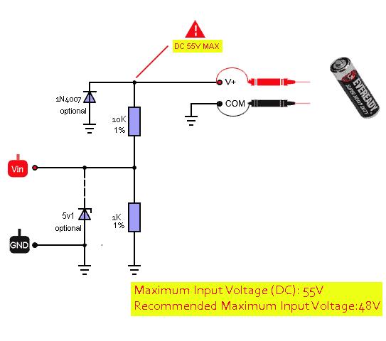 Arduino OLED DVM Adapter Circuit