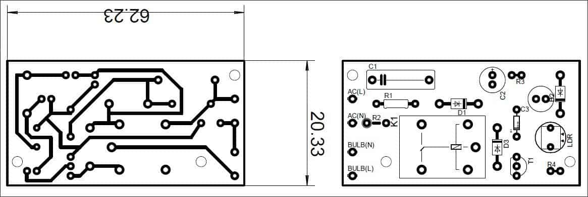 DTDC Switch for Outdoor Lamp-PCB Art Sample x2