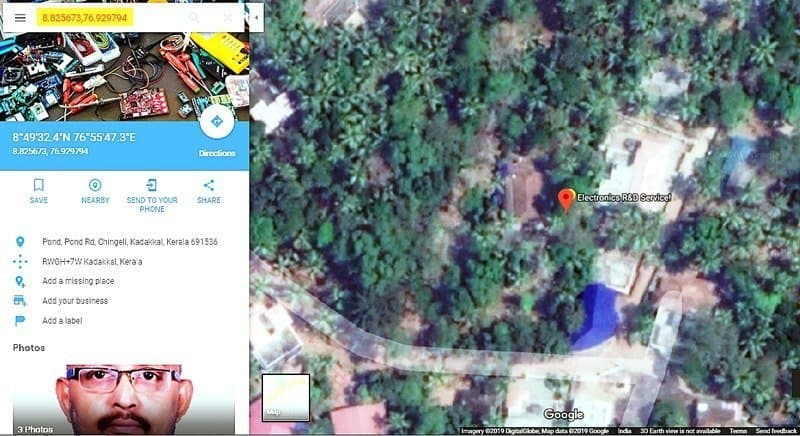 ublox NEO-6M GPS Module-Google Map Sample