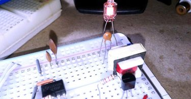 Neon Glow Bulb Tester-Breadboard Model_Run