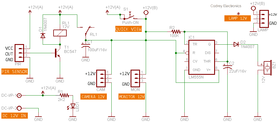 Security System Controller Circuit
