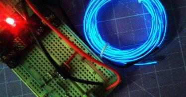 EL Wire Lamp Driver-Breadboard Prototype_run