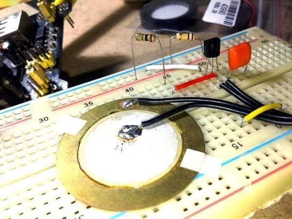 Ultra-Sensitive Knock Sensor-Breadboard Model