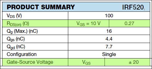 Strobe Light-IRF520N Summary