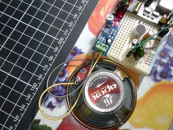 Wireless Mini Boombox-Breadboard Test 1