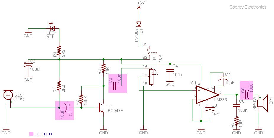 Wireless Mini boombox Circuit