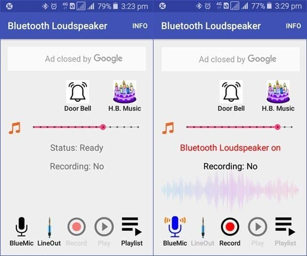 BT Mic App Screenshot Samsung