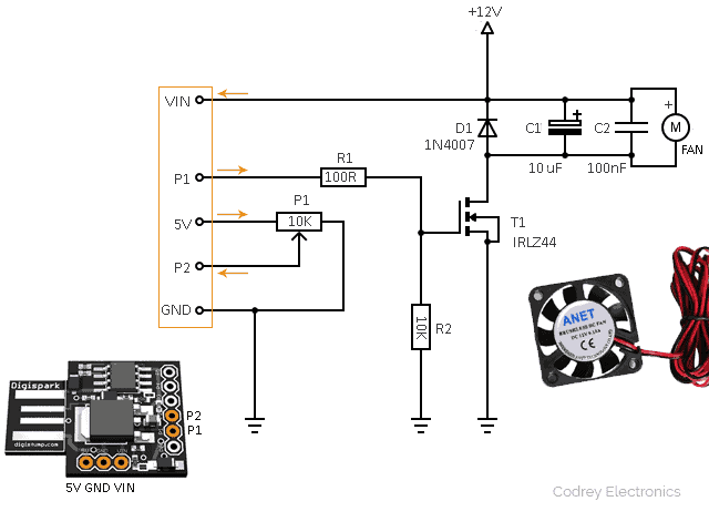 DC Cooling Fan Driver Circuit