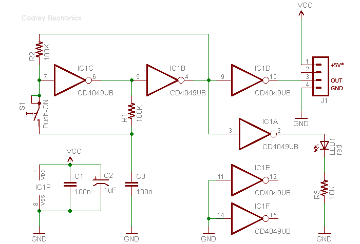 CMOS Toggle Switch Schematic