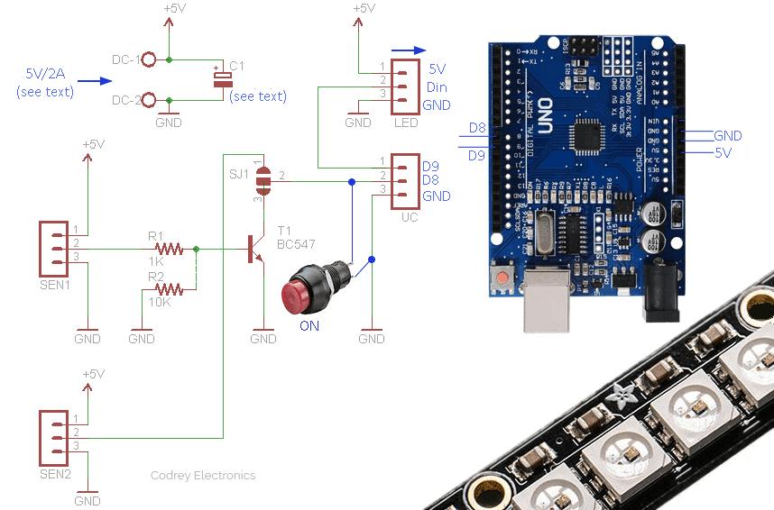 Arduino Staircase Light-Sensor Interface v1