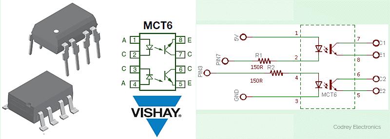 555 PWM Generator-MCT6 Basic Circuit