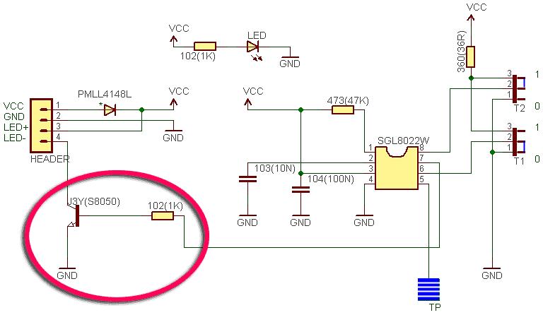 SGL8022W Module Circuit TK