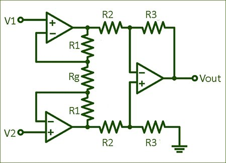 Classic Instrumentation Amplifier