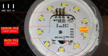 Radar Bulb PCB Annotation
