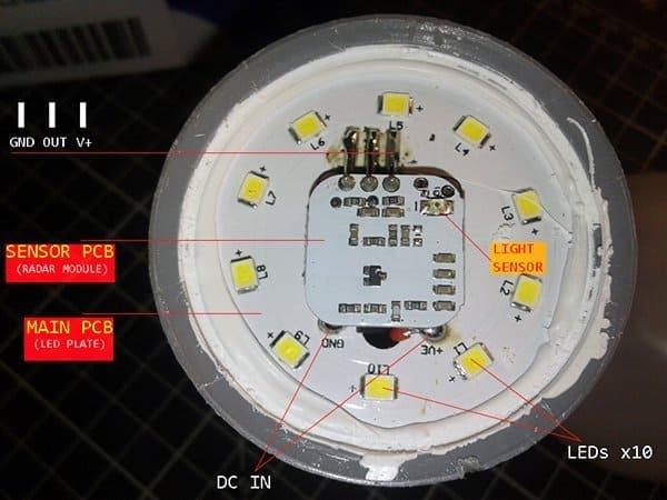 Radar Bulb PCB Annotation