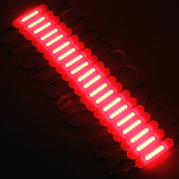 COB LED Module with lens Red 12VDC