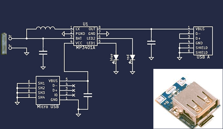 Power Bank Module Basic Circuit