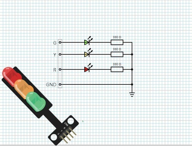 Traffic light LED module circuit TK