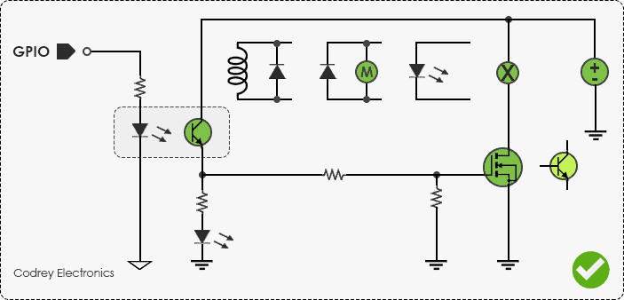 Arduino Isolated Mosfet Switch