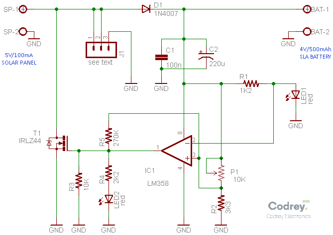 Solar Charge Controller Schematic v1