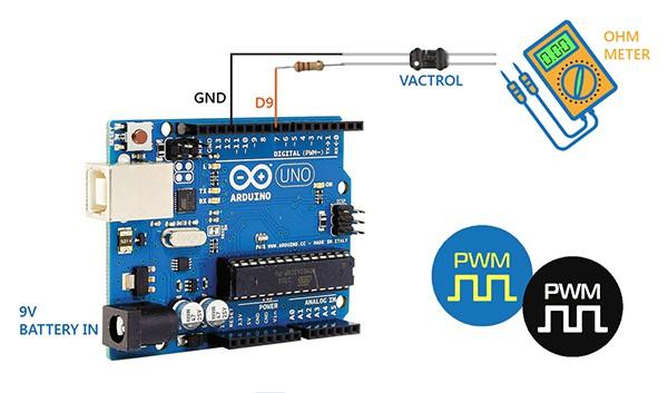 Arduino Vactrol Setup