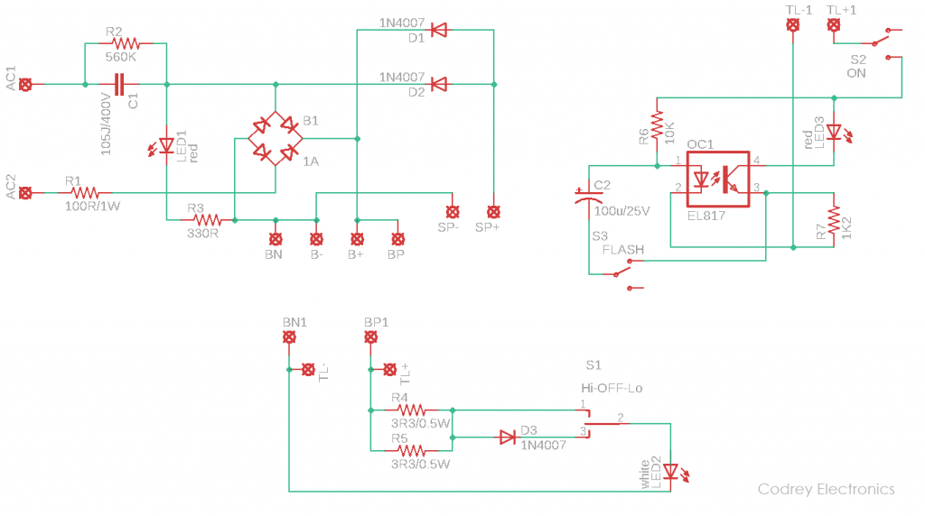 Bicycle Light Full Schematic